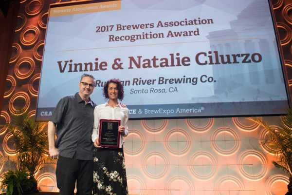 Brewers Association Recognition Award: Vinnie & Natalie Cilurzo, Co-Owners, Russian River Brewing Company